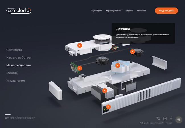 Анализ рынка бытовых систем вентиляции, разработка маркетинговой и сбытовой стратегии, дизайн промо-материалов, создание сайта (Вентмком / Comeforta)