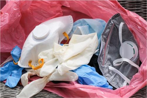 Утилизация медицинских масок и перчаток